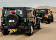 Jeeps from behind